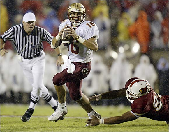 Chris Rix and the then-feared Seminoles were stunned by a Louisville team on the rise in 2002.
