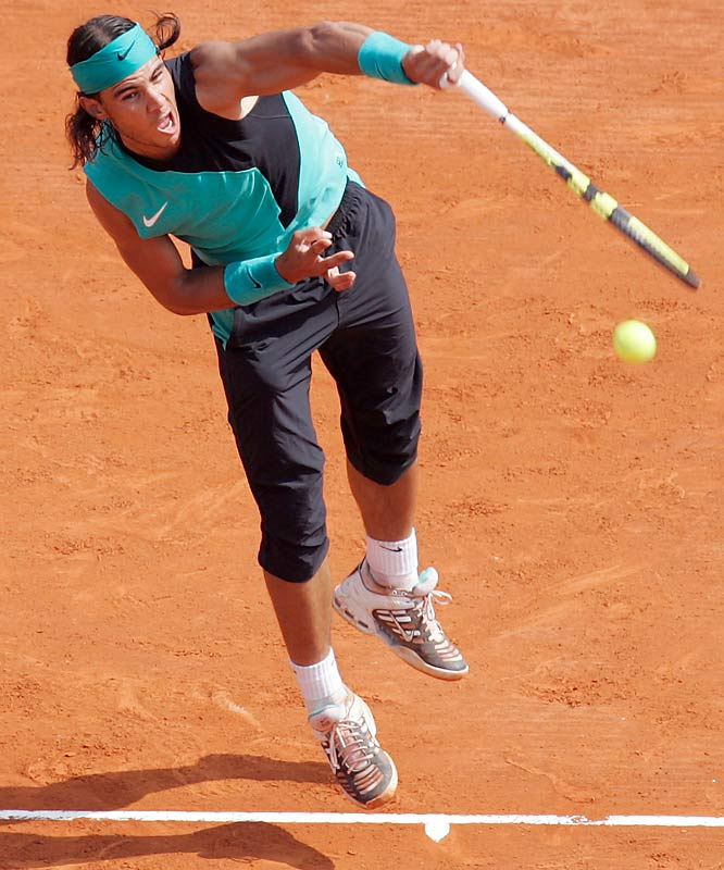 Back on the clay, Nadal regained the upper hand in the rivalry, winning a match that was less competitive than the scoreline indicated.    Nadal leads series 7-3.