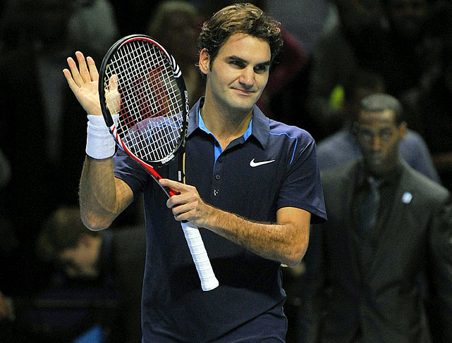 Their first career meeting in Tour Finals group play lasted only an hour as Federer improved to 4-0 against Nadal in this event (all on indoor courts). Federer shut out Nadal in a set for only the third time.    Nadal leads series 17-9.