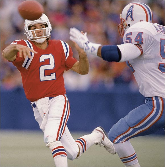 After a brief stint with the Bears, Flutie returned home to quarterback the New England Patriots. He experienced modest success and eventually departed for the Canadian Football League.