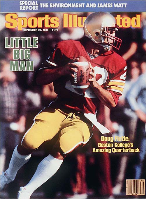 A star athlete from Natick, Mass., Doug Flutie was recruited by only one D-I school. By the end of his freshman season (1981), he was Boston College's starting quarterback.