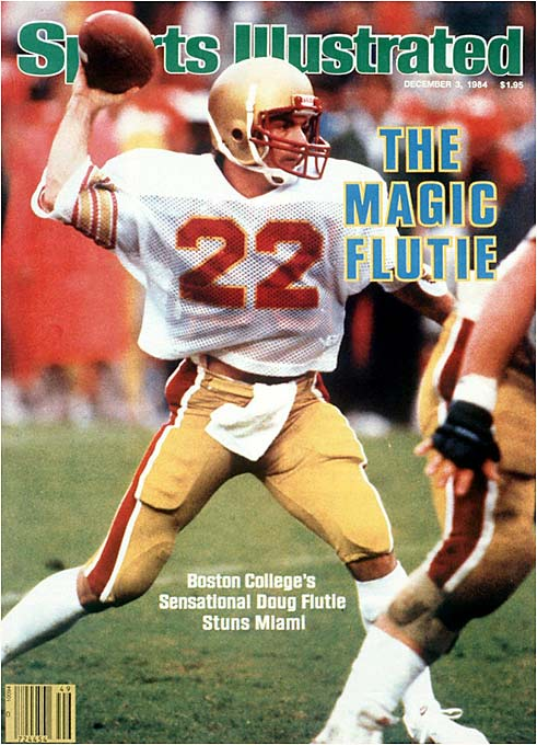 When he left Boston College in 1984, Flutie was the NCAA's all-time passing yardage leader with 10,579 yards.
