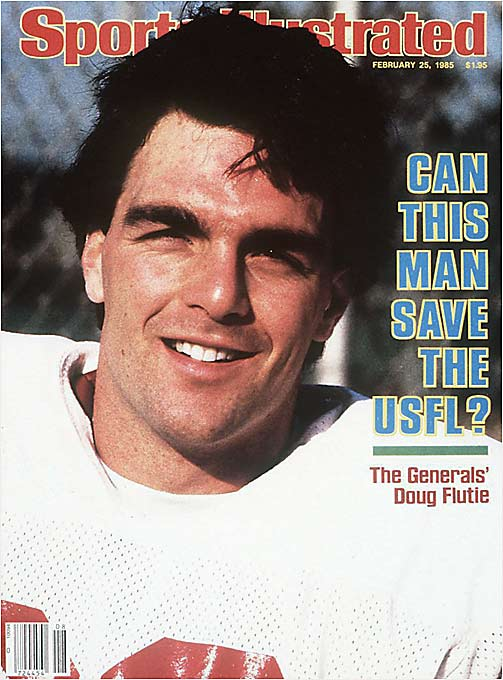 Flutie played one year with the New Jersey Generals before the league folded.