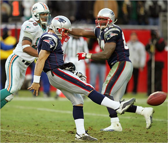 In his final appearance in an NFL game, Flutie converted a drop-kick extra point during the second half of a home game against the Dolphins.