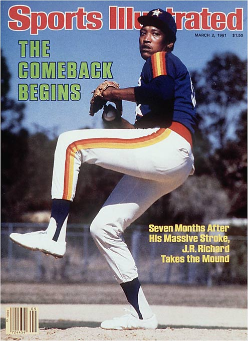 At 6-foot-8, 200 pounds, Richard unleashed an overpowering 100-mph heater and a filthy 93-mph slider with just enough wildness to keep hitters from digging in at the plate. He made his major league debut with the Astros in 1971 by tying the NL rookie record of 15 strikeouts and went on to win 20 games in 1976. Three years later he joined Nolan Ryan and Sandy Koufax as the only modern-era pitchers to strike out 300 batters in two consecutive seasons. His career was cut short by a stroke in 1980.