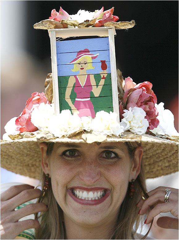 As always, Derby fans flocked to Churchill Downs to show off their hats, both unique ...