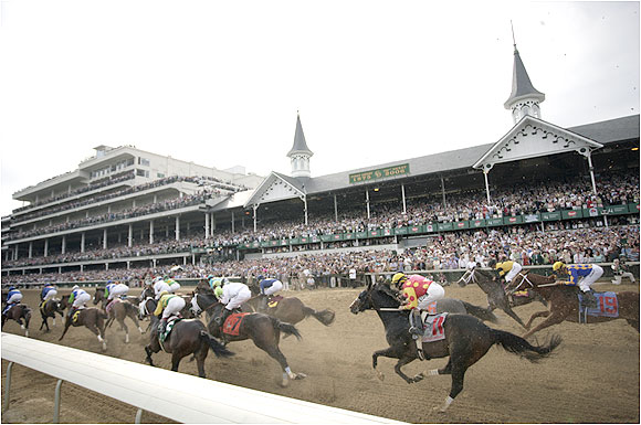 A crowd of 157,536 -- the second largest in Derby history -- gathered to watch the 132nd running of the race.