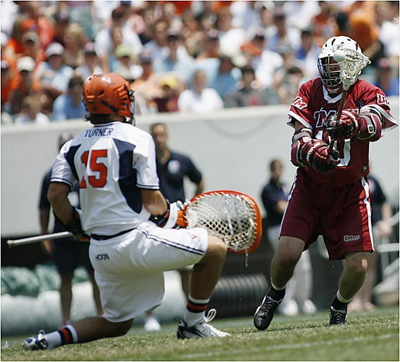 Kip Turner played well in goal for Virginia, but the Cavaliers relied on the nation's top offense (15.8 goals per game) to complete their undefeated season.