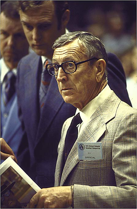 John Wooden's Bruins were virtually unbeatable during the 1960s and `70s. From 1971 to 1974, the Bruins won 88 straight games, a record that has not even been challenged. Wooden also led UCLA to seven straight national titles from 1967 through 1973.