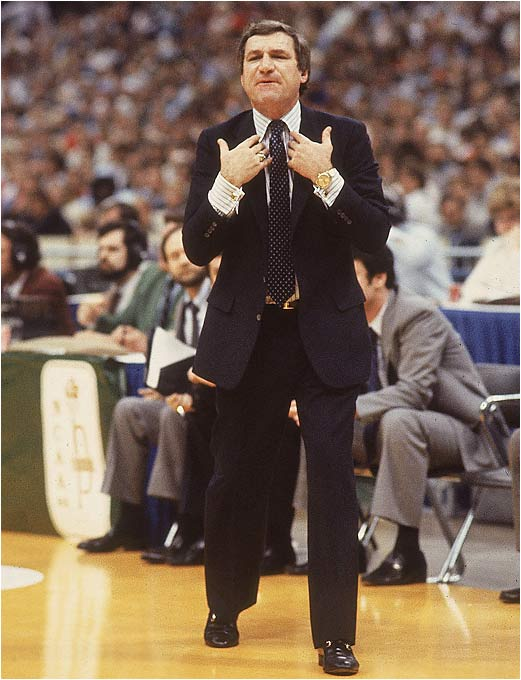 Smith became the Dean of college basketball coaches in 1997, when he passed Adolph Rupp with his 877th career victory in North Carolina's defeat of Colorado in the NCAA tournament. Smith led the Tar Heels to a pair of national titles and was revered for his innovative approach to the game. He may not hold the record for long, however, as Bob Knight is on his heels with 869 wins.