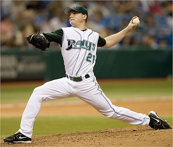 Scott Kazmir flummoxed the Marlins' lineup, scattering four hits and striking out 11 batters over eight innings as the Devil Rays blanked the Marlins 3-0. The 22-year-old lefty is tied for the major league lead in wins with seven.