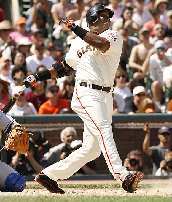 Age and injury have slowed his production considerably this season, but Bonds still excels at one thing: getting on base. He leads the majors with 39 walks (17 intentional) and a .481 on-base percentage.