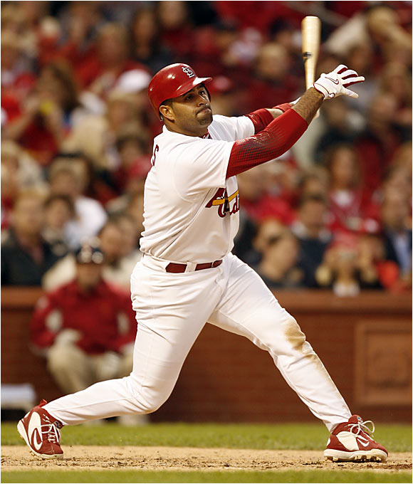 With Bonds in decline, is there any doubt who the best hitter in baseball is? Pujols leads the major leagues with an OPS of 1.266 (a career high), as well with 19 home runs and 48 RBIs.