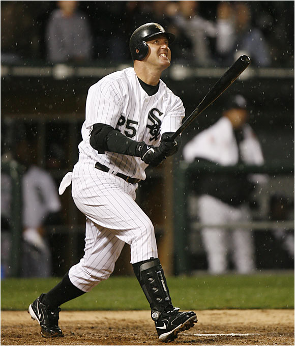 Only Bonds has more intentional walks than Thome's seven. The former Phillies and Indians slugger has sparked the world champion White Sox' offense with 16 home runs, including 10 in April.