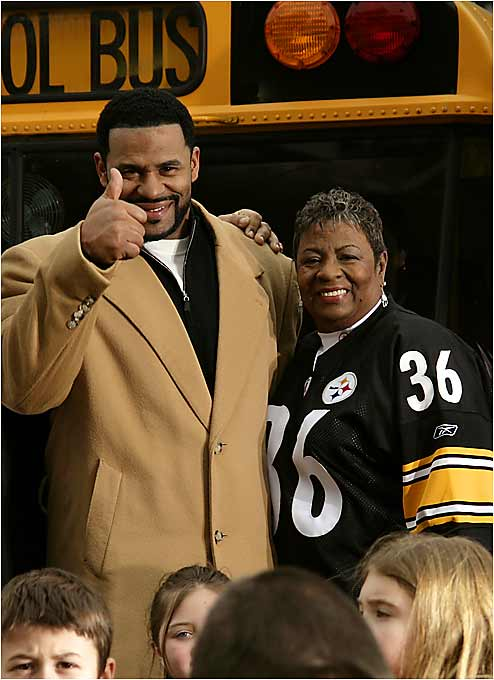 "In honor of Mother's Day, SI.com takes a candid look at some athletes and their mothers, including Jerome ""The Bus"" Bettis with his mom, Gladys."