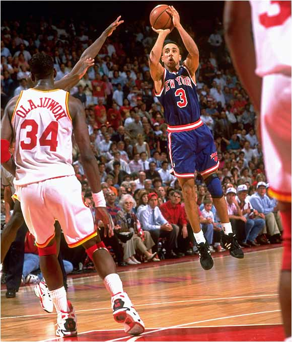Although a key element in the Knicks' run to the Finals, guard John Starks suffered through a 2-for-18 shooting night (including 0-for-11 from 3-point range), helping doom New York to its second straight loss in the series and handing the league crown to Hakeem Olajuwon and the Houston Rockets.