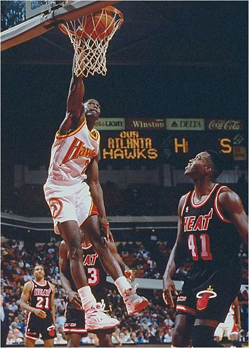 Heralded as one of the most exciting players of his era, Wilkins was the face of the Atlanta Hawks franchise, averaging 26.4 points in 11.5 seasons. His greatest playoff memory is a bitter one: In Game 7 of the 1988 Eastern Conference finals against the Boston Celtics, Wilkins and Larry Bird engaged in one of the greatest shootouts in NBA history. When it was over, Wilkins had scored a game-high 47 points (on 19-of-23 shooting) to Bird's 34 points, but the Celtics won 118-116 and advanced to the NBA Finals. Wilkins closed his career by playing with the Celtics and the Magic but never got closer to the title than in that 1988 showdown with Bird.