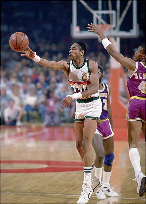 Besides being the Denver Nuggets' all-time leader in total points (21,654 points) and scoring average (25.9 per game), English holds the distinction of scoring the most points in the 1980s (19,682 points), including eight consecutive 2,000-point seasons. He was named to seven NBA All-Star teams and was elected to the Basketball Hall of Fame in 1997. Unfortunately for English, his Nuggets only made it as far as the Western Conference finals once (1984-85), and they bowed out to the eventual champion Los Angeles Lakers.