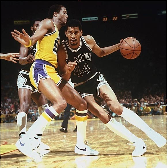 The Iceman's legacy includes the way he made a difficult sport look easy. He was voted to the All-Star team in 12 of his 14 seasons (three ABA, nine NBA) and led the NBA in scoring three years in a row (from 1978 to 1980) and again in 1982. Despite his individual success, Gervin never came closer to an NBA championship than in the 1978-79 season, when his Spurs blew a 3-1 lead over the Washington Bullets in the Eastern Conference finals. In addition to all of his accolades, Gervin is one of only three NBA players who were a teammate of both Julius Erving and Michael Jordan.