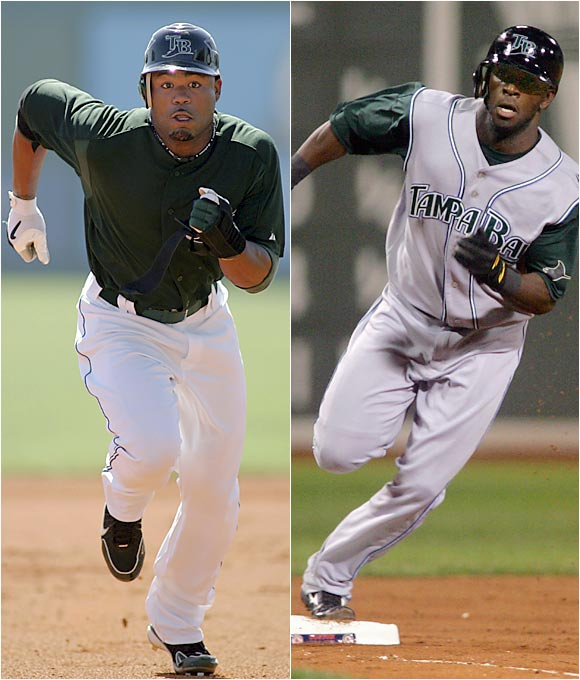 These may be the two fastest players in the majors. Only in his fifth season, Crawford has 182 career steals. Gathright stole 20 in only 76 games last year and has nine so far in '06.