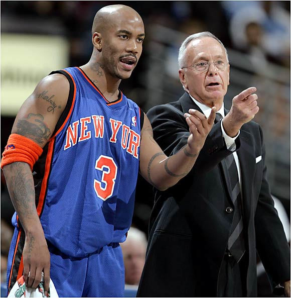 "Marbury: ""I'm no longer going to allow him to say things about me [and] I'm not going to say anything back. That's just not going to happen. I allowed him to drag me the first three, four months in the paper and I didn't say one word. I just sat back and took it. I'm not taking it anymore. If something is going to be said, I'm going to defend myself. My mother taught me that if somebody hits you, hit them back.""   Brown: ""I've been coaching how many years? A long time. I never left a team in worse shape than I got it. Not once. Now think about that. Think about me and think about the guy who's talking. All right? I've never asked anything of my players any different than I'm doing right now. Think about that."""