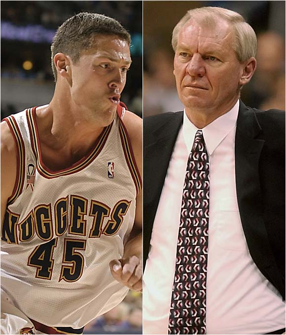 "Angered over Issel's treatment of teammate Raef LaFrentz and his calling for an 11 a.m. practice after the team arrived home at 3 a.m., the Nuggets boycotted a practice in 2000.   Issel: ""The players should have come to me and said they didn't want to practice. I did tell them I was glad they did it together. That's probably the first thing we've done as a team this year.""   LaFrentz: ""When things go bad, Dan Issel doesn't think. He just reacts. And he goes off. When Dan Issel gets mad, that's what happens. He attacks  referees, the press, his players."""
