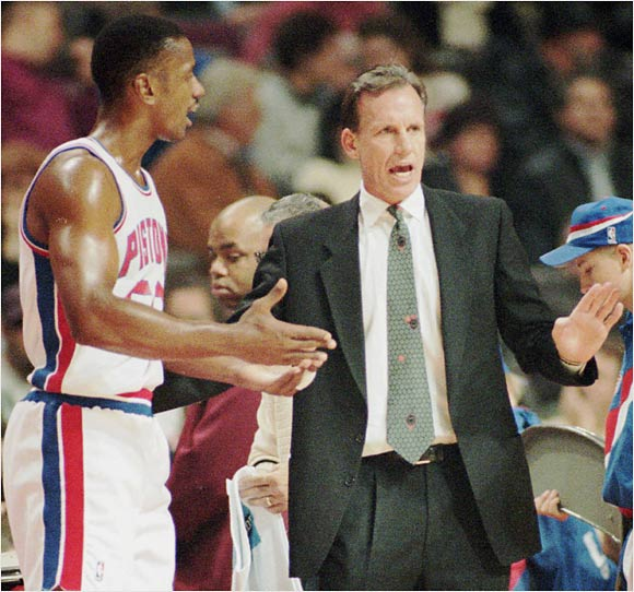 "Veteran forward Otis Thorpe and former Pistons coach Doug Collins failed to see eye-to-eye on much during their years together in Detroit. Thorpe went so far as to avoid contact with Collins, eschewing in-game huddles and forcing Collins to relay messages to Thorpe through teammates.   Thorpe: ""[Collins is] able to adjust to my personality. I make him listen, and he makes me listen. He realizes I've been around for a while, and he has been around. We both have jobs to do. We have an understanding in that area.""   Collins: ""It took me awhile to understand him because he's a quiet, intense person."""
