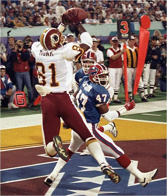 Thanks to his quiet demeanor, Monk never got the kind of attention he deserved. The Redskins great retired in 1994 with an NFL-record 940 catches (Jerry Rice topped that mark in '95). Monk also held the single-season receptions mark (106) and the consecutive-games-with-a-catch record (183) before being passed by Rice and others. Most important, Monk helped Washington win three Super Bowls.