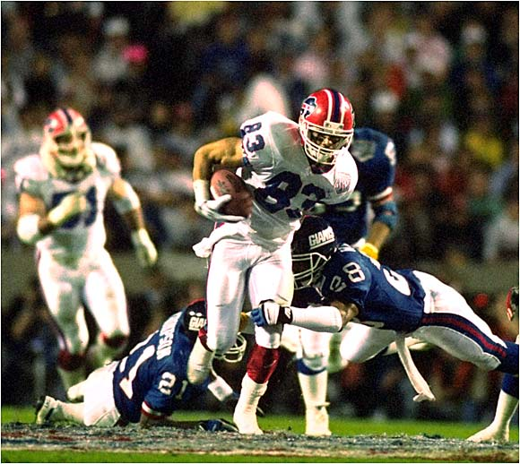 He is in the top 10 of virtually every receiving category and was a key figure in the Bills' four trips to the Super Bowl. But he appears to be fighting an uphill battle to make it into the Hall of Fame.