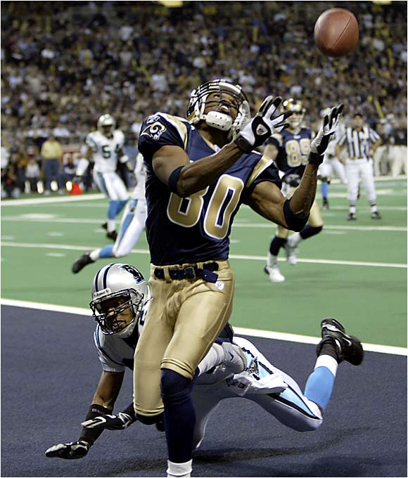 In his second season (1995) Bruce caught 119 balls for 1,791 yards and reached the height of his fame. Overshadowed by other stars in the Rams' offense, such as Marshall Faulk and Torry Holt, Bruce has remained a dangerous weapon for the Rams for more than a decade.