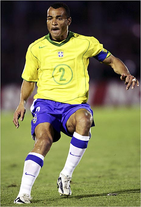 Brazil's captain is also his country's all-time leader in caps, and will be making his fourth consecutive World Cup appearance. A third title during Cafu's reign in the back line would tie him for most in national-team history, alongside Pelé.