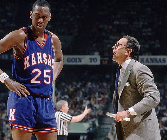 The Jayhawks experienced the best of times and worst of times with Brown. Kansas had five consecutive 22-win seasons under his tutelage and won the 1988 NCAA title but got put on three years' probation for violations under his watch and became the first NCAA champion not allowed to defend its national title.