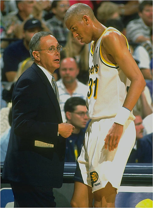 Hired by his old friend Donnie Walsh to coach the Pacers, Brown immediately led the team to 47 wins, the most in franchise history, and followed that with a pair of 52-win seasons. But he suffered his second losing season in 25 years of coaching in 1996-97 and called it quits.