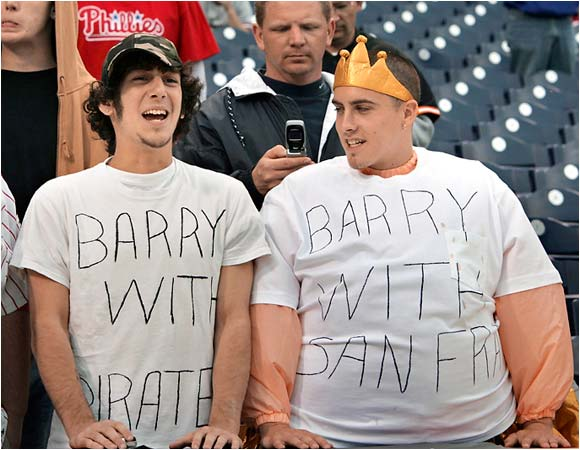 "We'd like to see how ""Barry with San Fran"" squeezed into his seat once the game started."