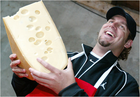 Super Bowl winner Ben Roethlisberger is enjoying his time as the big cheese.