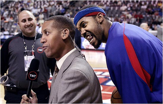Rasheed Wallace has taken Spike Lee's place as Reggie Miller's biggest heckler.