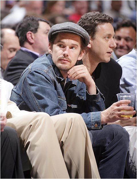 Ethan Hawke was also at a Nets playoff game this week. OK, OK, we'll bring back Beyonce next week.