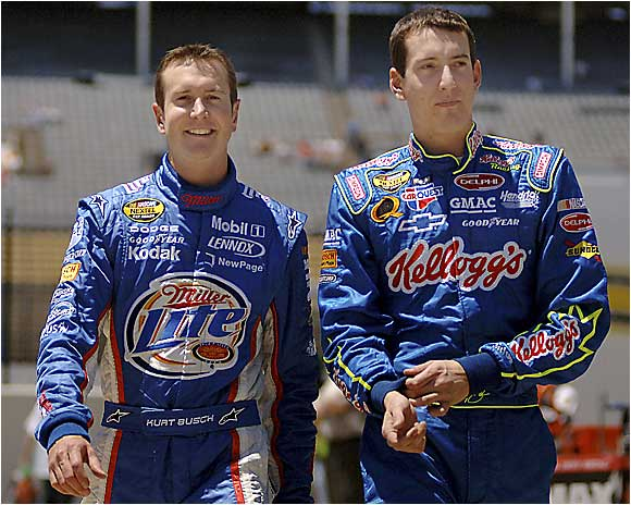 Kurt is only 27 and already has a Nextel Cup title on his résumé. Younger brother Kyle is just getting started and appears to have as much talent as his older brother. This family will quickly move up this list over the next few years. (Pictured from left: Kurt and Kyle Busch.)