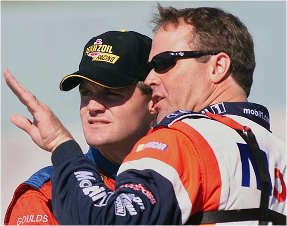 Rusty won a Winston Cup championship, while his brothers Mike and Kenny have been NASCAR regulars for more than a decade. (Pictured from left: Kenny and Mike Wallace.)