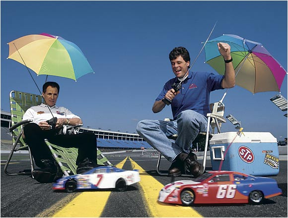 Older brother Darrell is one of the best in history, winning three Winston Cup titles and a Daytona 500. Michael adds two more Daytona 500 victories to the family collection. (Pictured from left: Darrell and Michael Waltrip.)