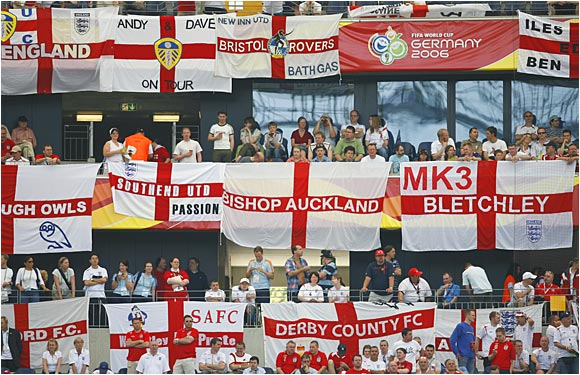 England's supporters showed up in full force to support their boys.