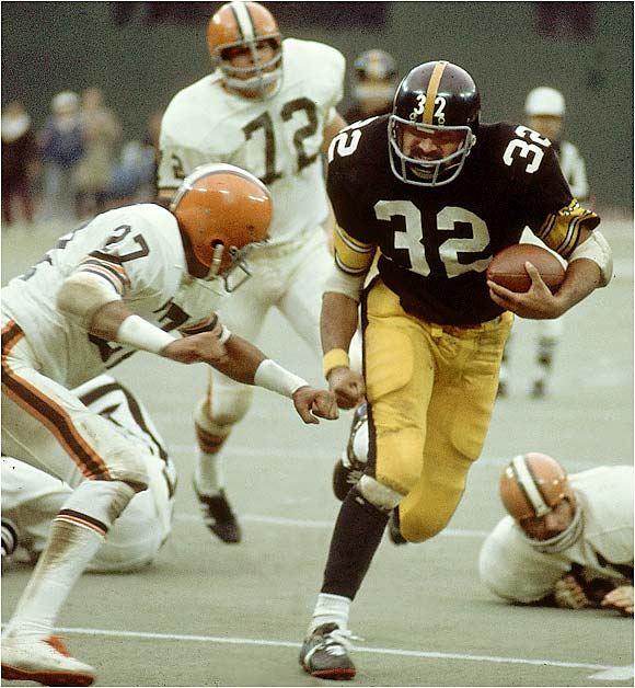 He carried the load for four Super Bowl champions, but it's his Immaculate Reception against the Raiders that forever makes him a legend.