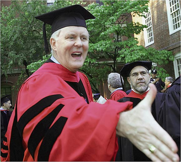Harvard alum John Lithgow received an honorary degree from the school in 2005.