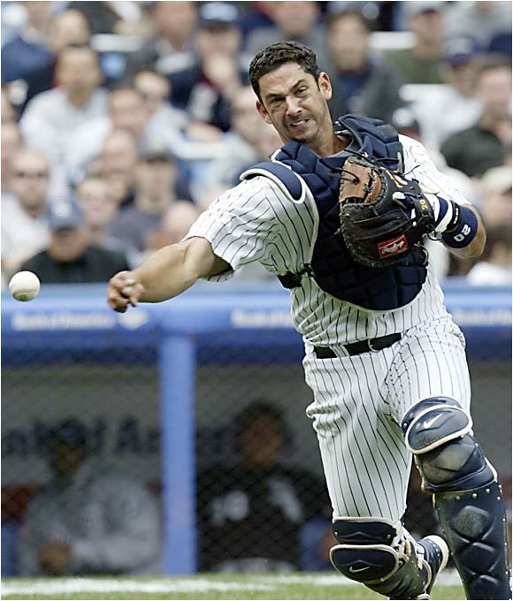 Posada worked his way up the Yankees' farm system to become the everyday catcher on three of the Yankees' past four World Series championship clubs.