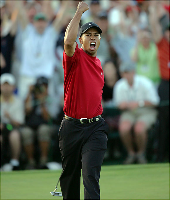 He's the finest golfer of his generation and likely will go down as the best golfer of all time. He may not always lap the field like he used to, but he's still capable of pulling out a miracle, as he did with his chip shot at the 2005 Masters. And you can't put a price on miracles.