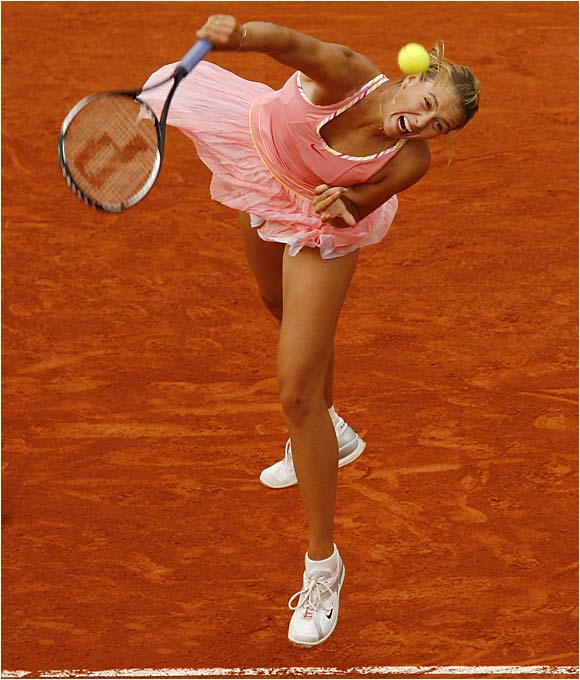 When a 17-year-old Sharapova burst onto the scene in 2004 by winning Wimbledon, she was an immediate hit. Sure, her 6-foot-2 frame and model-like looks don't hurt, but with a power game that is every bit as strong as the Williams sisters' and a first serve that, when she lands it, is arguably the best in the women's game, Sharapova has proven that she's more than just a pretty face.