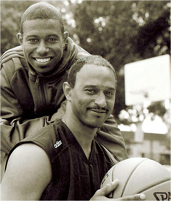 "T.J. Ford and his father, Leo, posed for SI two months after T.J. led Texas to the 2003 Final Four. Leo proudly spoke of his son's ability to overcome the odds: ""When he was growing up, sometimes I felt sorry for him because most of his friends were bigger, but he was determined. He kept working and working until he found a way to beat them."""