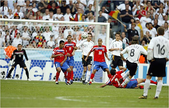 Torsten Frings snuffed out any thoughts of a Costa Rican upset by blasting a 35-yard shot into the upper right corner of the net. The goal gave Germany a comfortable two-goal lead.