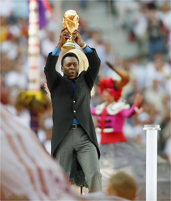 The opening ceremony in Munich featured the august presence of Pelé (left) and Diego Maradona. Pelé won the World Cup with Brazil in 1958, '62 and '70.