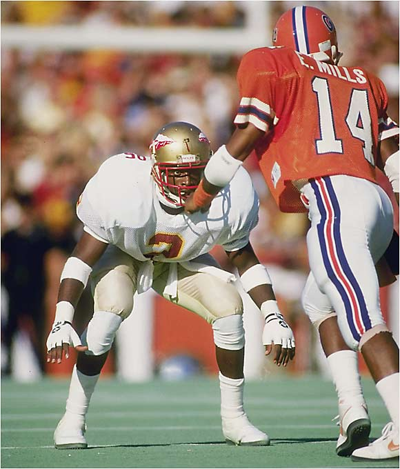Deion Sanders was a two-time All-America cornerback who won the Jim Thorpe Award in 1988 and also started at center field on a Seminoles team that finished fifth in the College World Series. Sanders hit .331, stole bases by the bucketful and also parlayed his blinding speed into excellence as a sprinter on the track and field team.